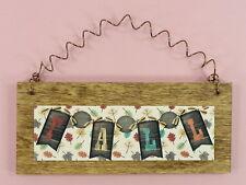 FALL SIGN Small Wood Metal Leaves Banner Autumn Home Decor Cute Gift Idea