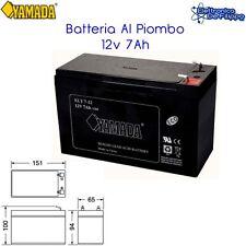 Batteria Ermetica Ricaricabile al Piombo 12V Volt 7.5Ah faston 4,8 UPS SICUREZZA