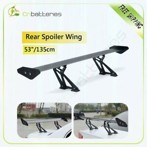 """Universal 53"""" Black Color Adjustable GT-Style High Quality Rear Spoiler Wing"""