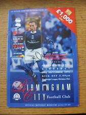 30/09/1995 Birmingham City v Oldham Athletic [Hand Signed By Mark Ward & Steve F