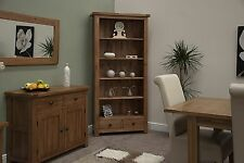 Brooklyn solid oak living room office furniture large bookcase