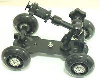 7 inch Articulating Magic Arm + DSLR Skater Wheel Camera Truck Top Dolly Kit