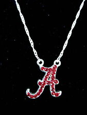 University of ALABAMA CRIMSON TIDE CRYSTAL PENDANT NECKLACE rhinestone jewelry