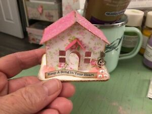 Tim Holtz Paper Village MINIATURE PAPER HOUSE Fairy Pixie PRETTY IN PINK #2 OOAK