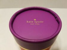 Kate Spade Round Jewelry Gift Box - Red and Purple -