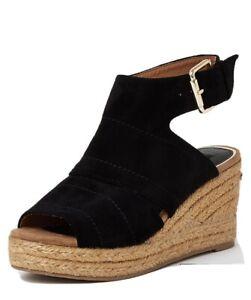 River Island Espadrille Wedge Sandals - Black Size Uk 6 Rrp £35