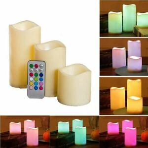 3X LED Kerze mit Timer für Außen Outdoor-Kerzen Flammenlos Elktrisch Candle DHL