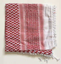 New Red white Keffitey Shemagh Arab Scarf Cotton Unisex Hatta Free Shipping