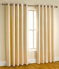 New Polyester 2 Piece Door Curtain Set - Cream, 4 x 7 ft