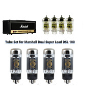 Tube Set Marshall Dual Super Lead DSL100 Genalex KT77 Matched Quad + 4 Gold Lion