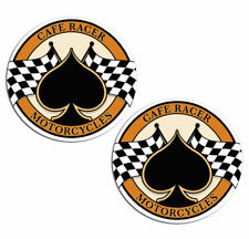 Cafe Racer Racing Vinyl Stickers Decal Auto Motorcycle Ace Chequered Flag Z 124