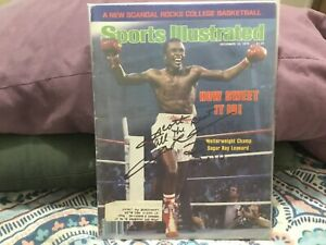 SUGAR RAY LEONARD SIGNED TO SCOTT 1979 SPORTS ILLUSTRATED/ WELTERWEIGHT CHAMPION