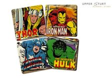 Marvel Comics Coasters Set of 4 Thor Hulk Iron Man America