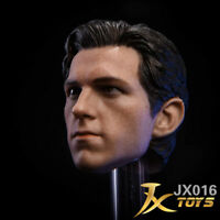 """JXtoys 1/6 Male Head Carving Tom Holland Spider Man Fit 12"""" Action Figures"""