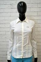 Camicia Bianca Donna GUESS Taglia Size XS Maglia Shirt Woman White Blusa