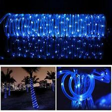 Solar Powered Rope Night Fairy String Twinkle Lights Waterproof Outdoor Garden