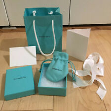 Tiffany & Co. Small Gift Box With Padding,  Suede Pouch, Gift Bag, Ribbon