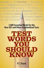 Test Words You Should Know: 1,000 Essential Words for the New SAT and Other Stan