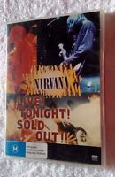 NIRVANA: LIVE TONIGHT! SOLD OUT!! (DVD) R -1, LIKE NEW, FREE POST IN AUSTRALIA
