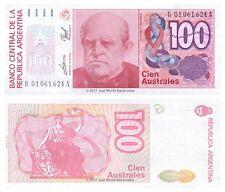 Argentina 100 Australes reemplazo ND (1985-90) P-327c Billetes Unc