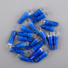 Hot 20pcs Blue T5 37 73 74 1 LED Dashboard Light Lamp Bulb for Car Parts