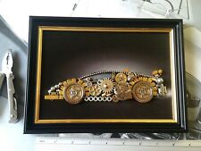 Aventador Art Steampunk Black wood Frame Approx 9x6 inches