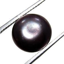 4.75Ct. Button Shape Fresh Water Cultured Black Pearl / Moti Gemstone  -CH 5314