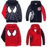 Kids Toddler Baby Boys Spiderman Hooded Zipper Casual Jacket Coats Sweatshirt