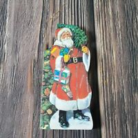 VTG Miniature Santa Book Oranment Twain Kris Kringle Nostalgia Around the World