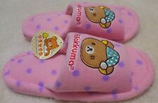 LAST ONE ! Rilakkuma Slippers  stay up late night Pink  with Tags Super Rare
