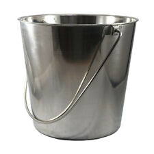 Stainless Steel Pail Bucket & Handle 6 Quart Veterinary Surgery Dental Milk Food