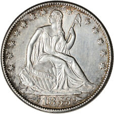 1855-O US Seated Liberty Silver Half Dollar 50C - Arrows - UNC Details