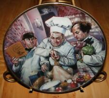 The Three Stooges, The Cooking Lesson, The Franklin Mint 3 stooges Plate  00004000