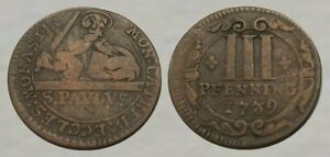 ☆ AWESOME !! ☆ 1739 Colonial Era Coin ☆ Nice Details !!
