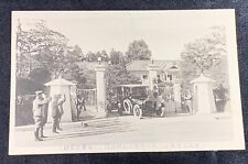 Pre Wwii Japanese Emperor Hirohito Visiting Army Headquarters Post Card