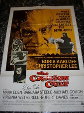 Barbara Steele signed The Crimson Cult poster 27 x 41 original 1-sheet from 1970