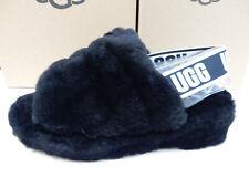 UGG Womens Fluff Yeah Slide Black 10