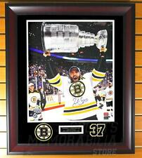 Patrice Bergeron Boston Bruins Signed Autographed Stanley Cup 16x20 Framed B