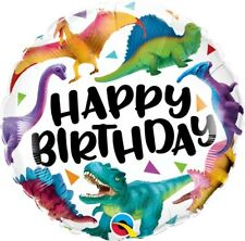 Colourful Dinosaurs Happy Birthday Foil Balloon 46 cm (18 in) Party Event Decor