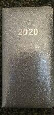 Slim Silver Sparkle Glitter 2020 Pocket Diary