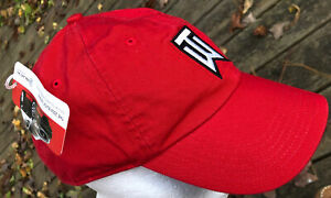 Tiger Woods Nike Adjustable Strapback Red Hat Cap TW Buick Embroidered NWT 2006