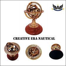 "Handmade Nautical Design Sphere Globe World Map Antique Brass Armillary Decor 6"""