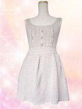 LIZ LISA Light Brown Houndstooth Pattern Dress
