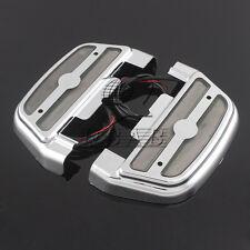Chrome LED Light Passenger Footboard Cover Smoke lens For Harley Touring 84-up