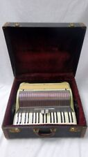 VINTAGE HIGH END HARMONIUM MOTHER OF PEARL 39 KEY 120 BUTTON ACCORDION