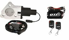 "QTP QTEC25K 2.5"" Electric Exhaust Cutout 3-Bolt Flange with Wireless Remotes"