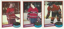 9 1980-81 TOPPS HOCKEY MONTREAL CANADIENS CARDS (ROBINSON/GAINEY+++)