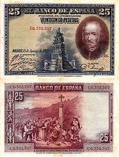 ESPAÑA BILLETE 25 PESETAS 1928  Circulado/EBC