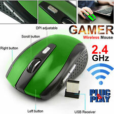 a3ab702363c Green 2.4GHz Wireless Cordless Optical Scroll USB PC DPI Mouse Laptop  Computer