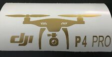 DJI Phantom 4 Pro Style Decals / Stickers in GOLD